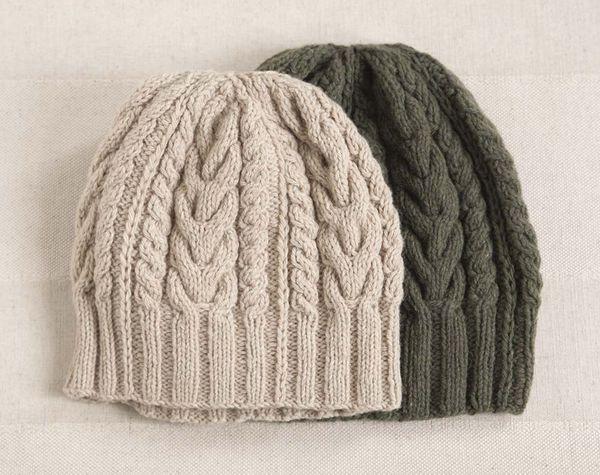modele tricot bonnet homme torsade