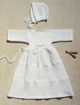 patron tricot robe bapteme