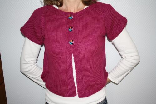 modele tricot gilet manche courte