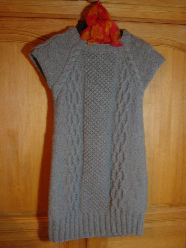 Robe tunique en tricot