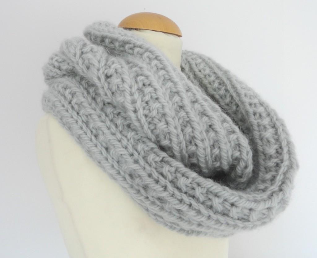 modele gratuit de snood a tricoter