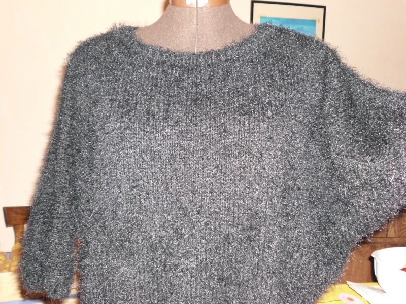 modèle tricot pull manche chauve-souris