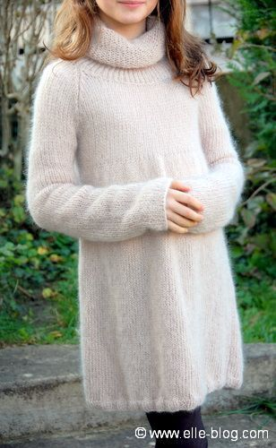 modele robe pull tricot gratuit