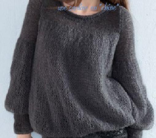 explication mod le pull tricot original. Black Bedroom Furniture Sets. Home Design Ideas