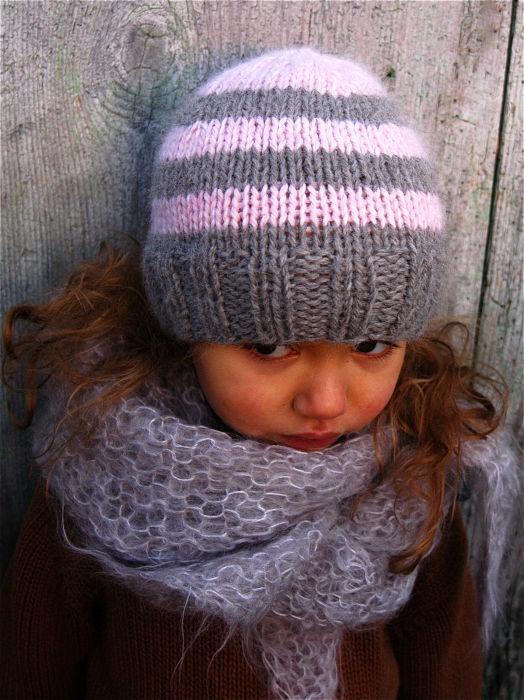 modèle tricot bonnet fille 2 ans