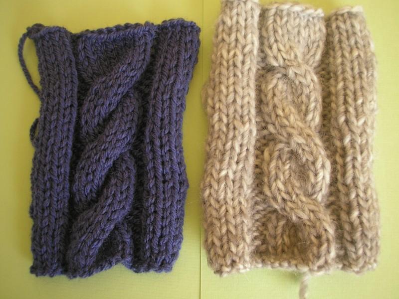 tricoter une echarpe avec une torsade