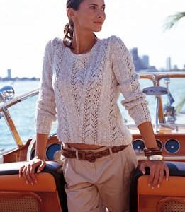 modèle tricot pull en coton