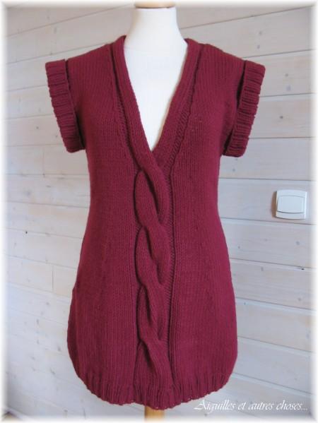 modele tunique tricot gratuit