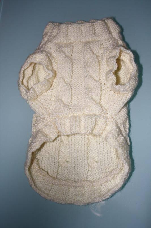 patron tricot pull chien gratuit