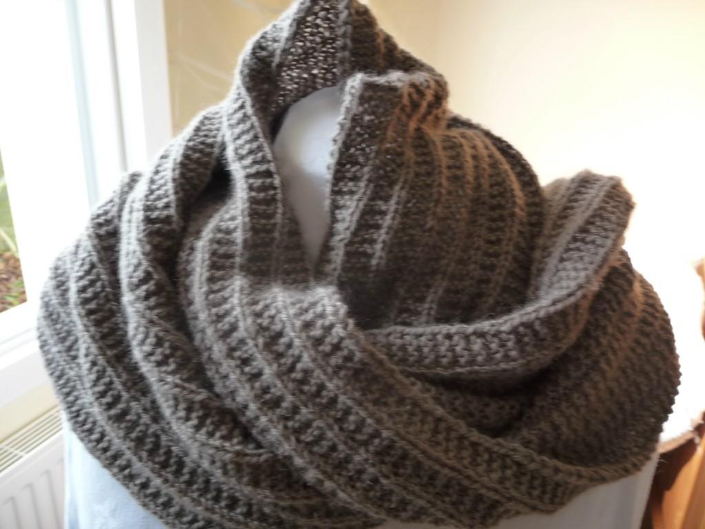 tricoter une echarpe avec de la grosse laine
