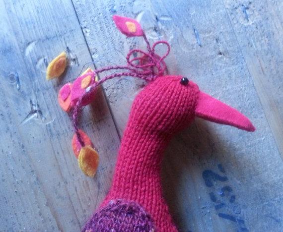 modèle tricot oiseau