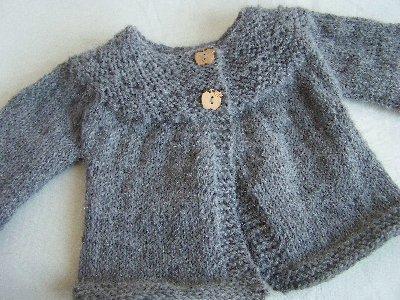 modèle tricot gilet bébé 6 mois