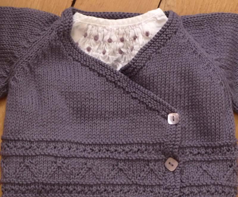 modèle tricot layette bébé