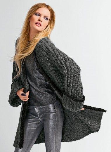 modele tricot veste longue femme gratuit. Black Bedroom Furniture Sets. Home Design Ideas