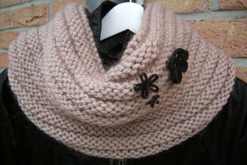 modele snood en tricot