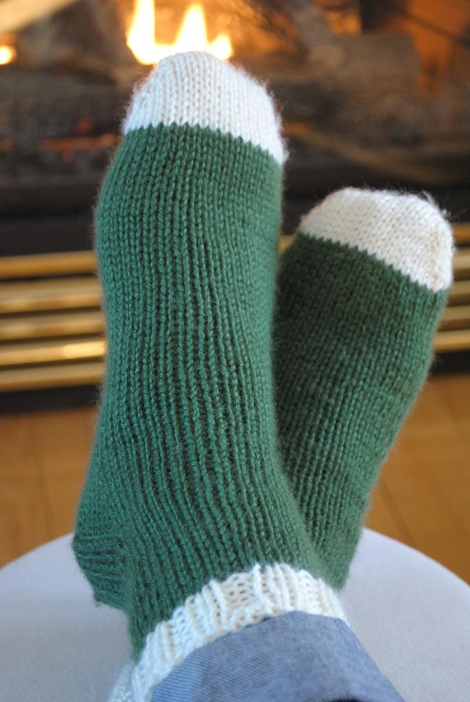 patron chaussette tricot debutant