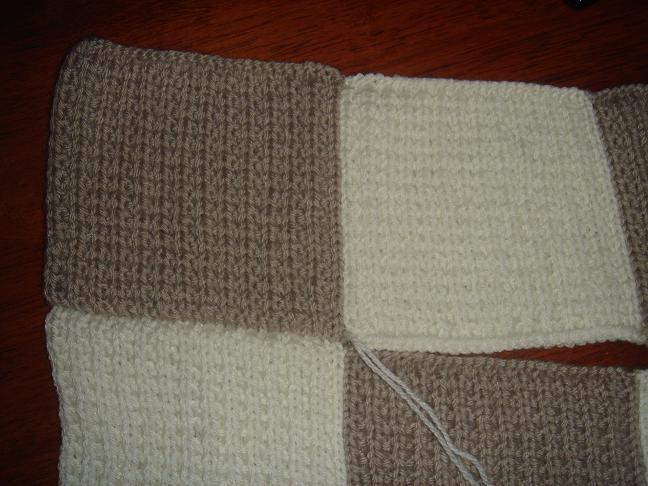 modele tricot couverture facile