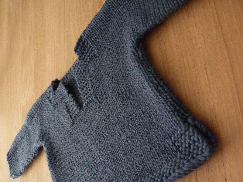 tricoter un pull 18 mois