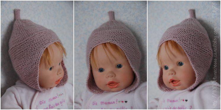 fa30235695d6 illustration modèle tricot bonnet bébé 3 mois