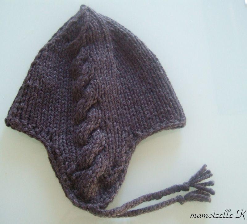 tricoter un bonnet cache oreille