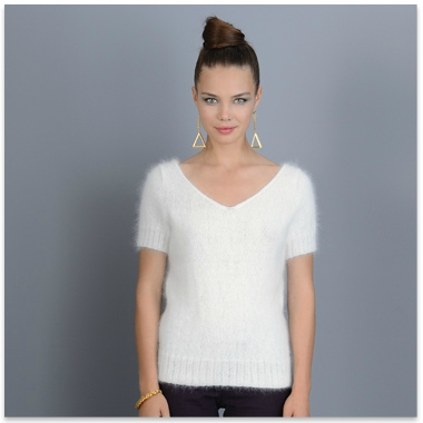 tricot pull court femme