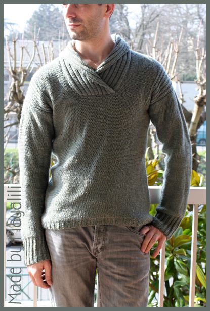 modèle tricot pull homme col rond