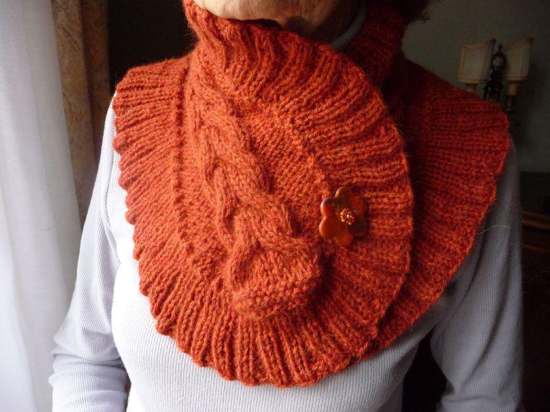 tricoter tour de cou femme