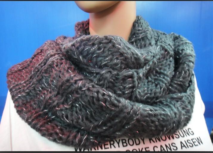 patron tricot foulard tube