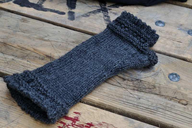 modèle tricot gant sans doigt