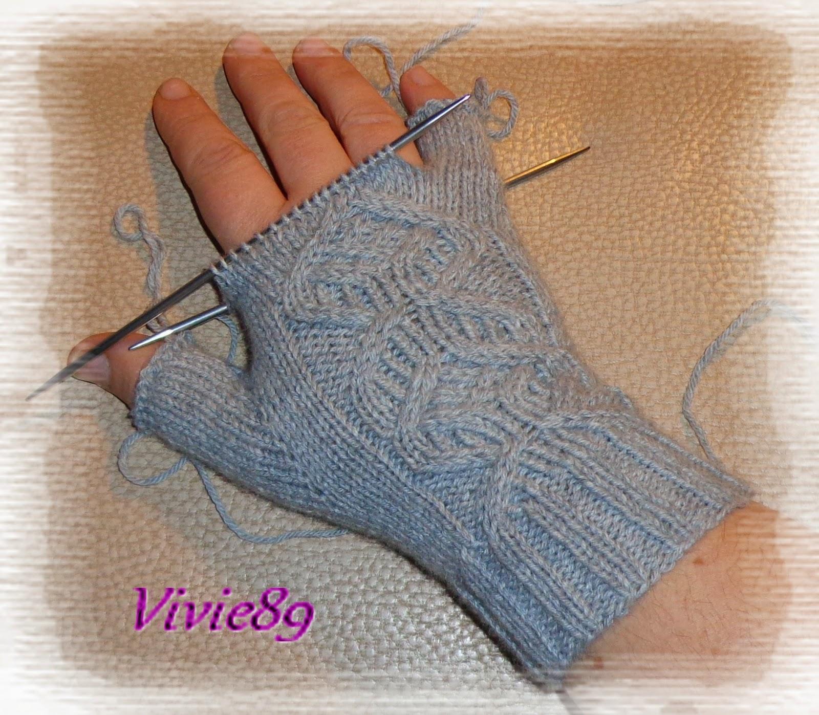 Mod le tricot mitaines avec doigts - Comment tricoter des mitaines avec doigts ...