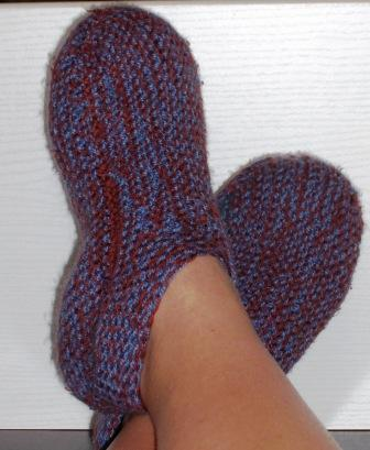 chausson adulte tricot modele