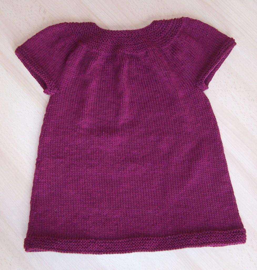 patron tricot fille 4 ans