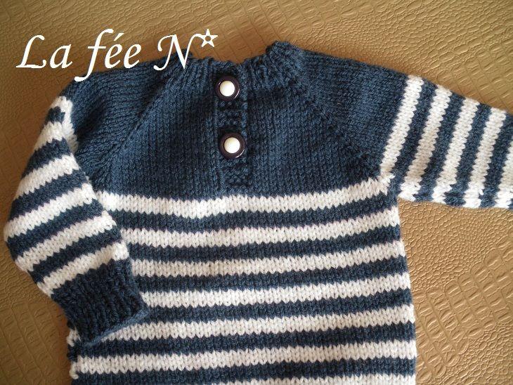modèle tricot pull marin