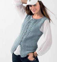 modele tricot pull sans manche femme