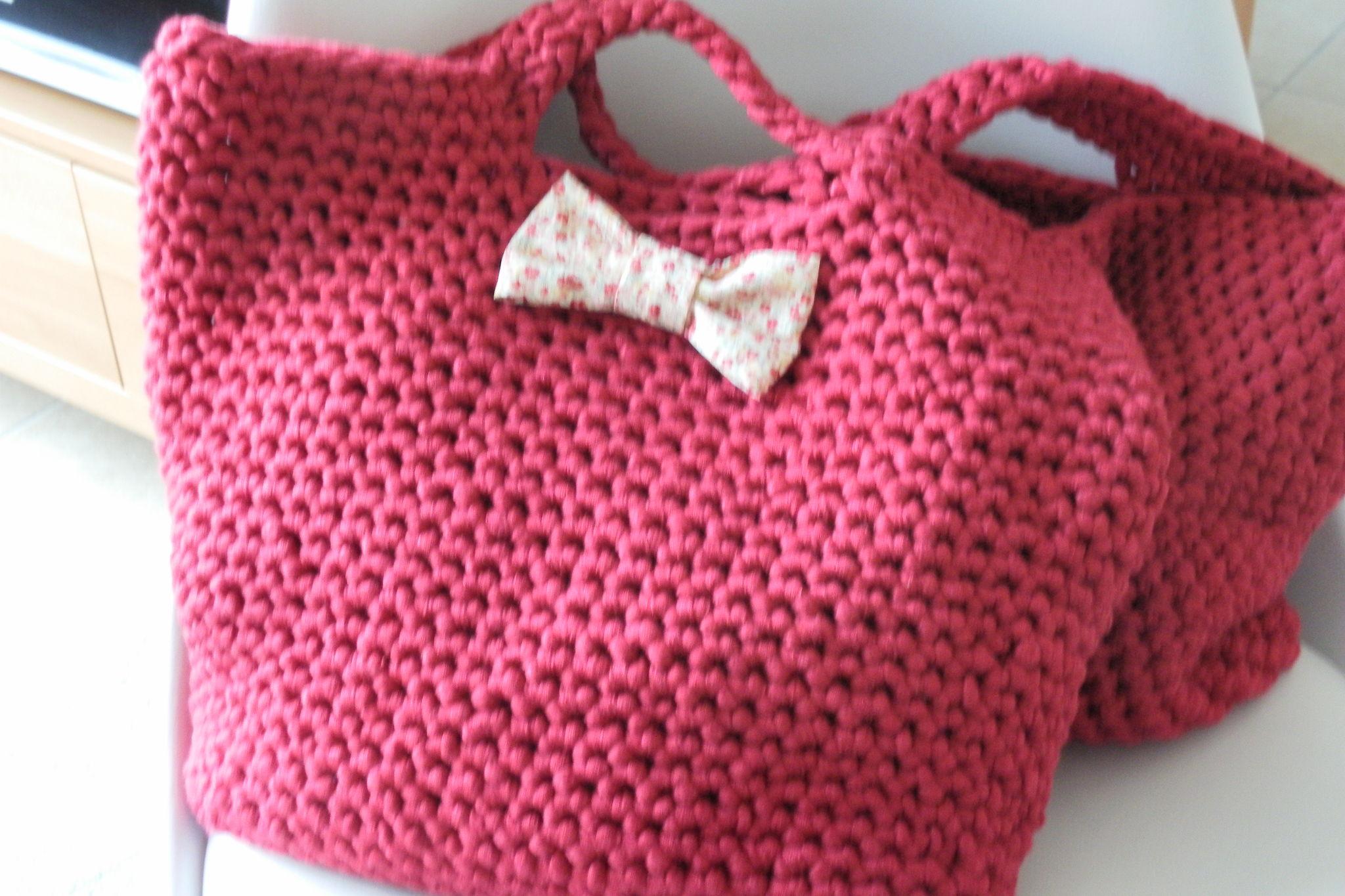 Patron sac en tricot - Tuto pour creer un sac en crochet ...