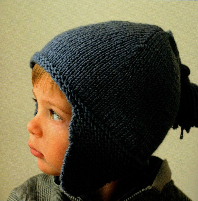 modèle tricot bonnet peruvien bébé facile