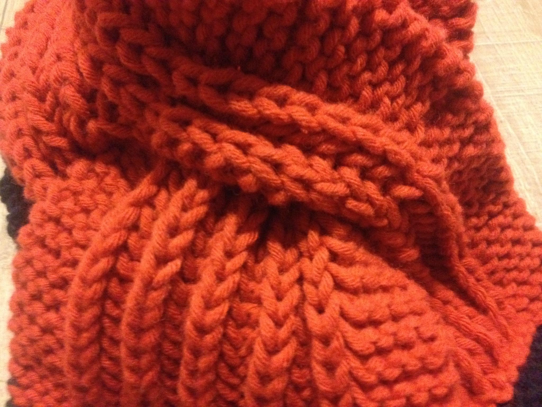 tricoter une echarpe aiguille 6