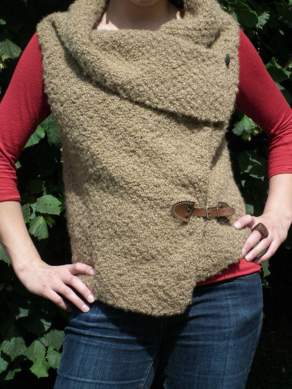 tricoter pull sans manche femme