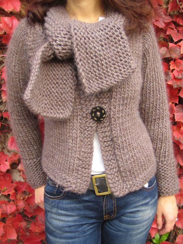 7279de3cd8d6 aperçu modèle tricot veste echarpe
