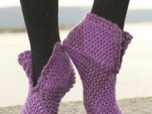 patron tricot chausson adulte