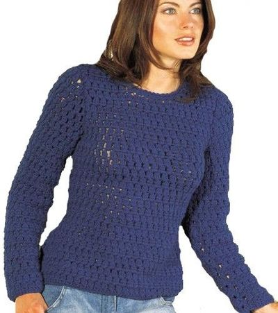 modele pull crochet femme