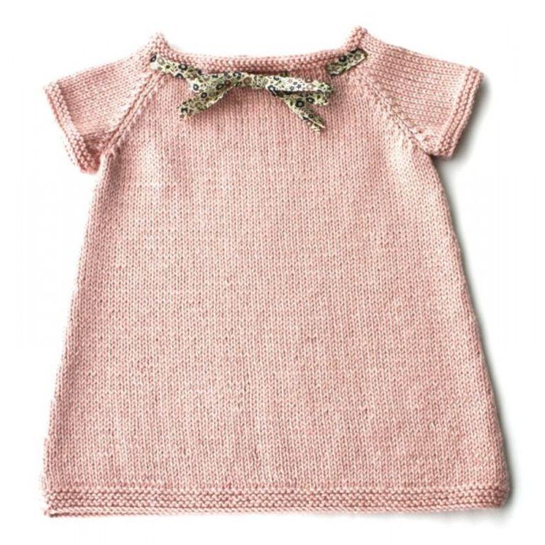 modèle tricot gratuit robe bébé