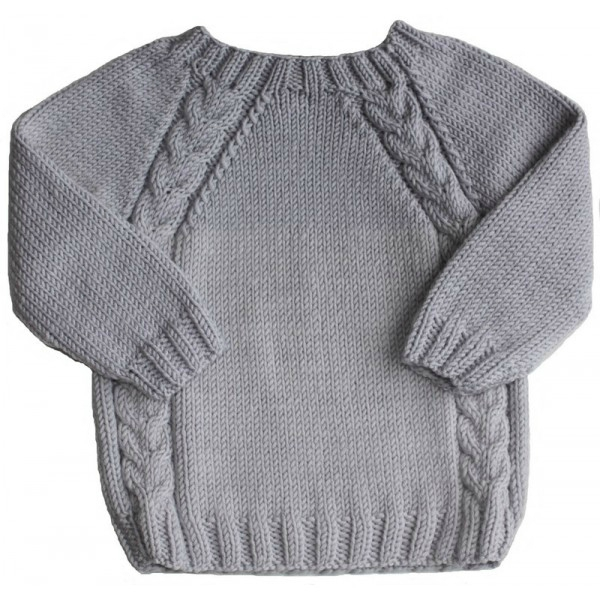 apparence modèle tricot pull manche raglan bouton source c9ee3eddaf37