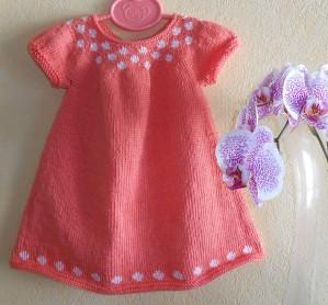 modèle tricot robe 1 mois