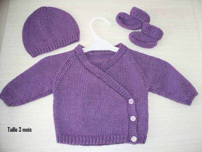 patron tricot layette naissance