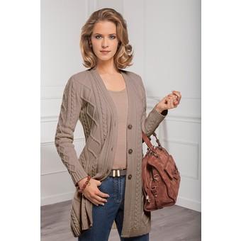 modèle tricot gilet long femme gratuit