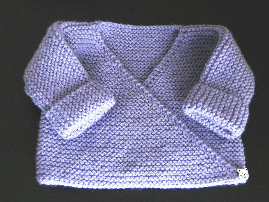 modèle tricot kimono bébé