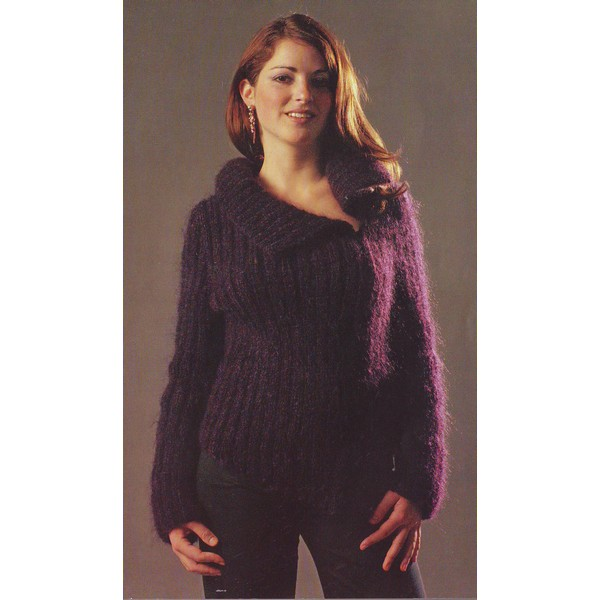 patron tricot pull col roule