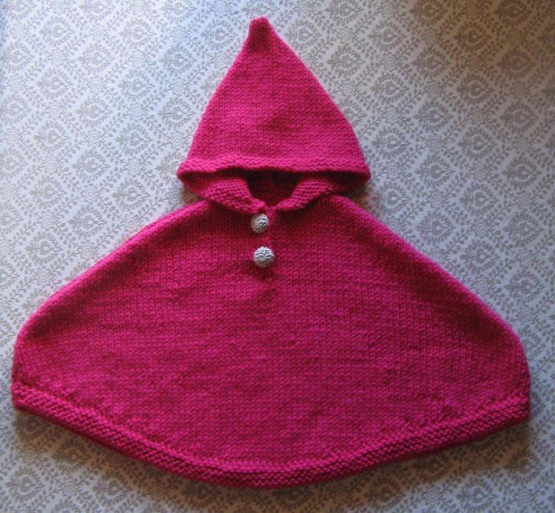 modele tricot cape bebe