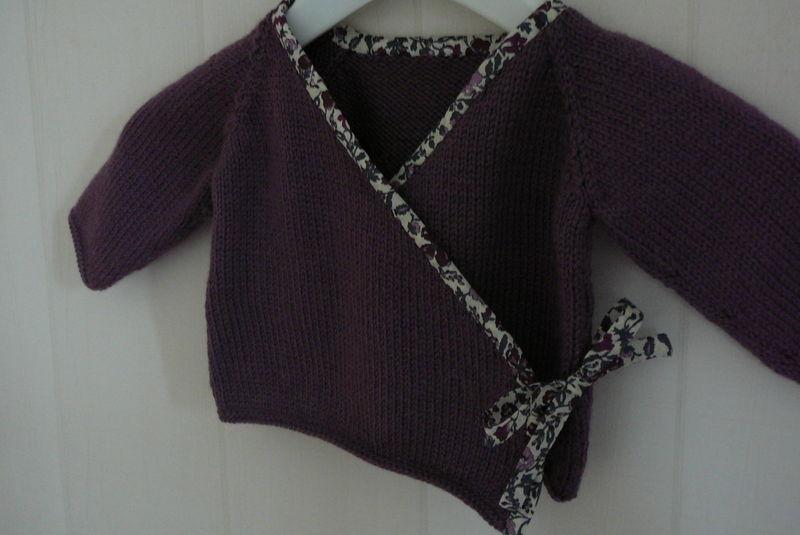 modèle tricot gilet cache coeur 8 ans